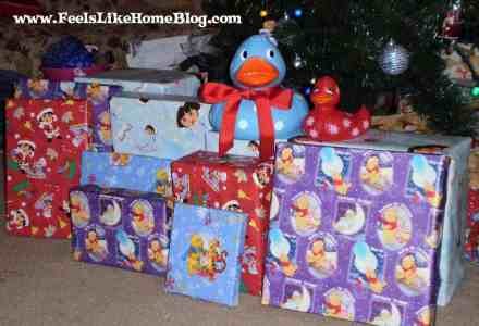 Lots of presents to open