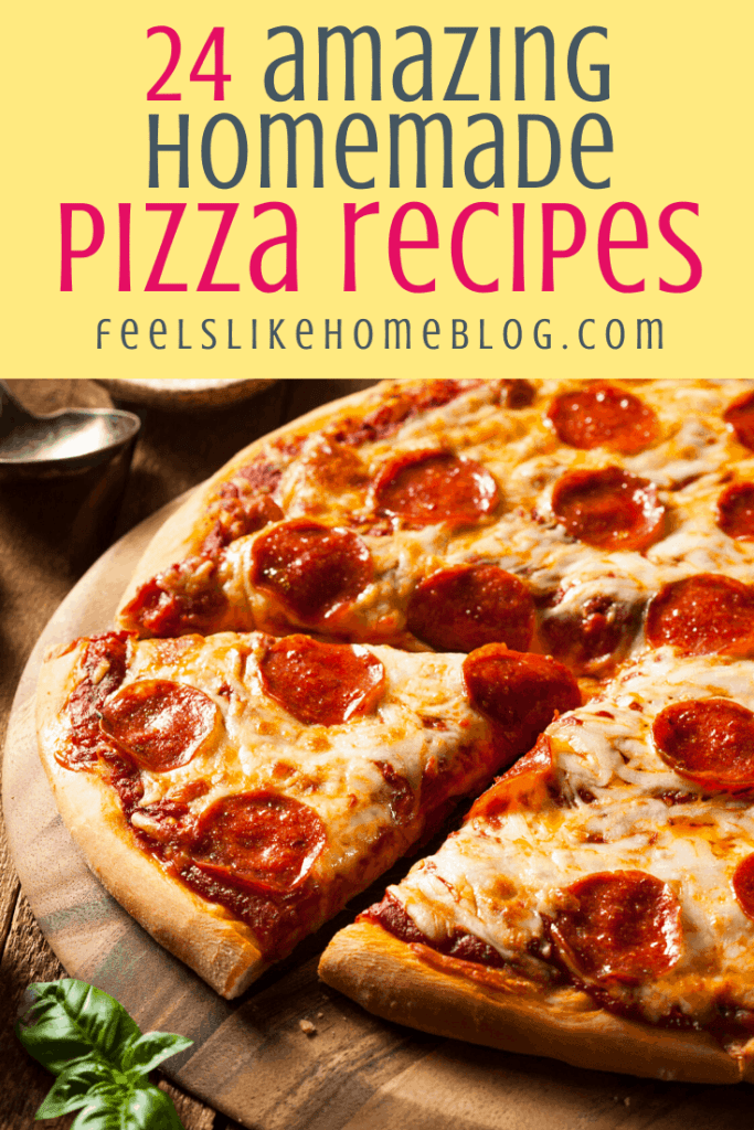 homemade pizza with pepperoni and cheese