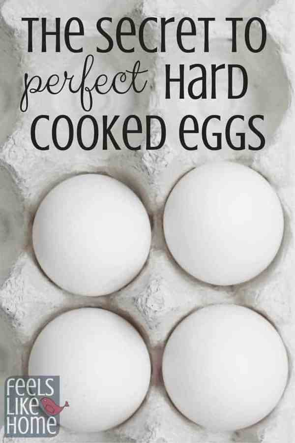 How to make perfect hard cooked eggs on the stove - There is a secret to perfectly hard boiled eggs, and you can learn the tips and kitchen hacks here! If you follow these easy instructions, you will never have runny or rubbery hard boiled eggs again and the shells will peel right off! Great for Easter breakfast!