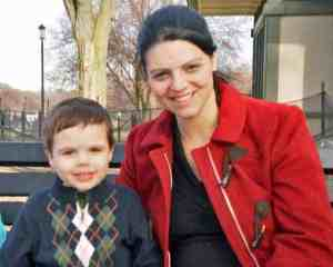 Allison McDonald and her son