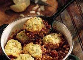 chili chicken with cornmeal dumplings