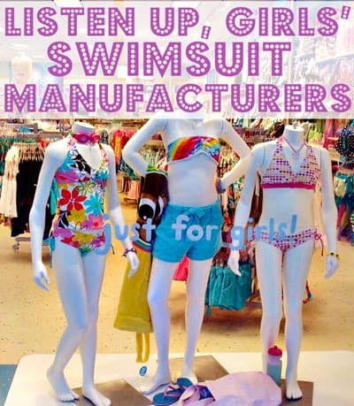 Why is it so hard to find modest swimsuits for little girls? Girls of all ages want to feel pretty, but it is not necessary for toddlers, preschoolers, kids, and even tweens and teens to bare their bodies in so called cute swim suits! This mom calls for bathing suit makers to create more modest, appropriate suits for girls.