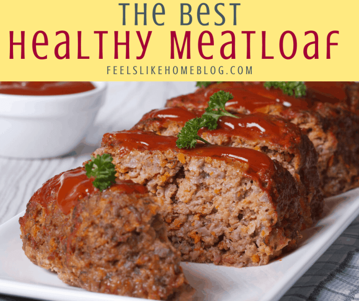sliced meatloaf with ketchup topping
