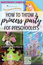 Simple & easy DIY Disney princess birthday party for preschoolers - My 3-year-old loved this party. Complete with ideas for favors and goodie bags, activities, food, crafts, and games. Because the party was outside, we had only basic decorations. Easy to do on a budget or with toddlers. Served cupcakes instead of a big cake and kids decorated them at the party.
