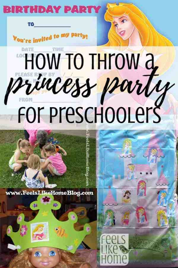 how to throw a simple princess birthday party for a preschooler