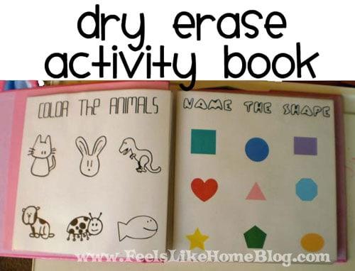 dry erase activity book for preschoolers