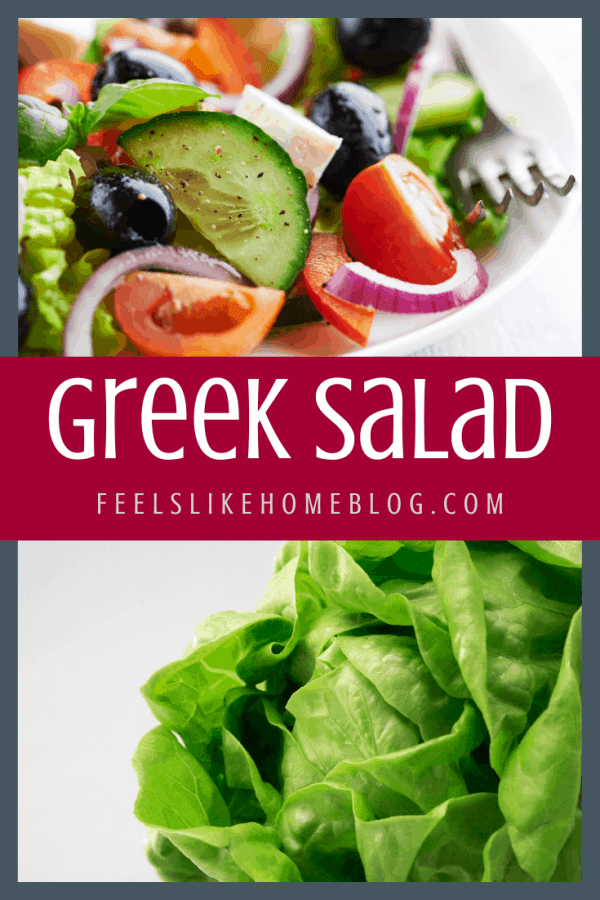 A close up of food, with Greek salad