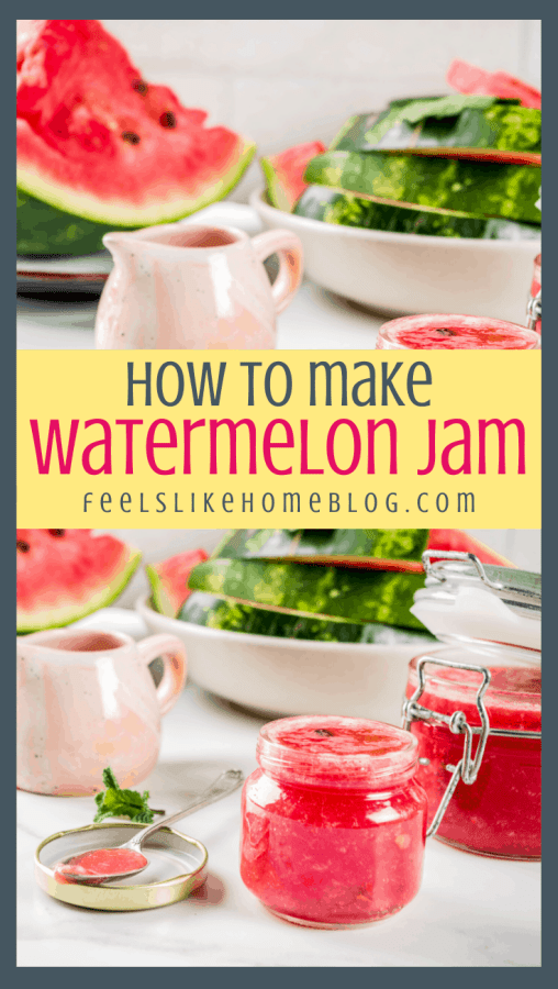 watermelon jam in a jar