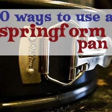 A close up of a springform pan