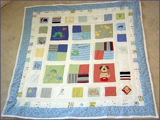 Keepsake Quilts Make A Quilt From Baby Clothes Feels Like Home