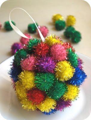 pom pom christmas ornament