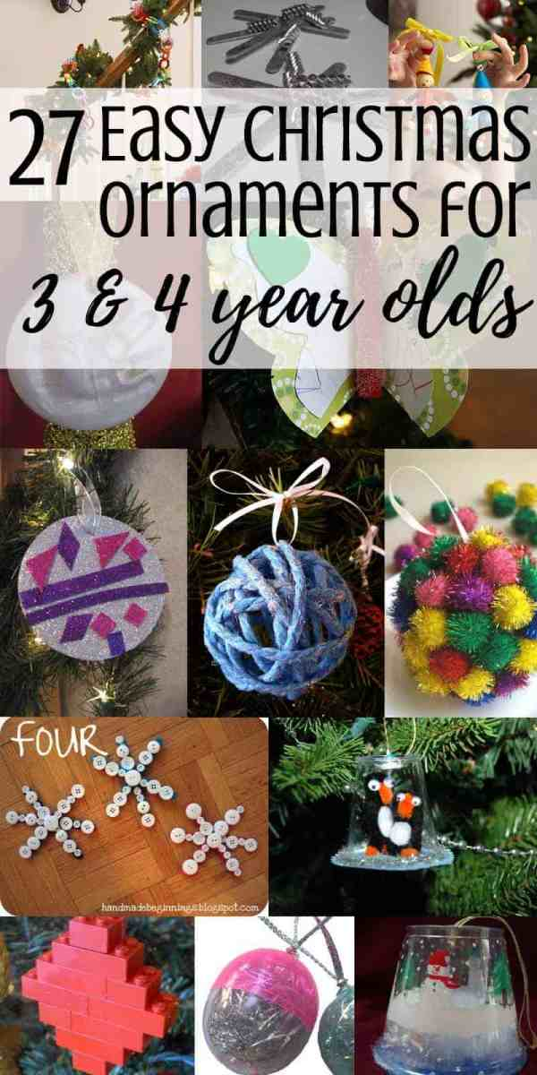 27 easy diy christmas tree ornaments that preschoolers can make these homemade crafts include everything