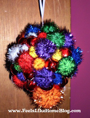 pom pom ornament craft