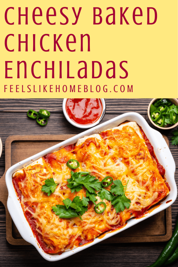 A pan of enchiladas with sauce