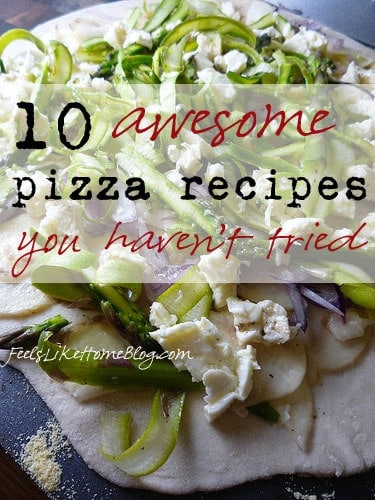 10 Awesome Pizza Recipes You Haven't Tried - Simple and easy homemade healthy recipes including mushroom and pepperoni, but also gourmet pizzas with unique and unusual toppings and of course, lots of cheese!