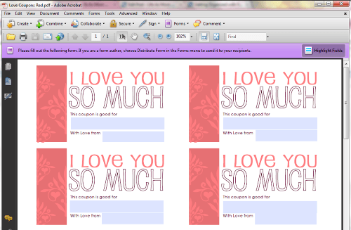 printable valentines coupons