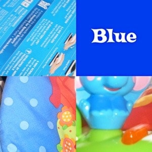 Photos of blue items