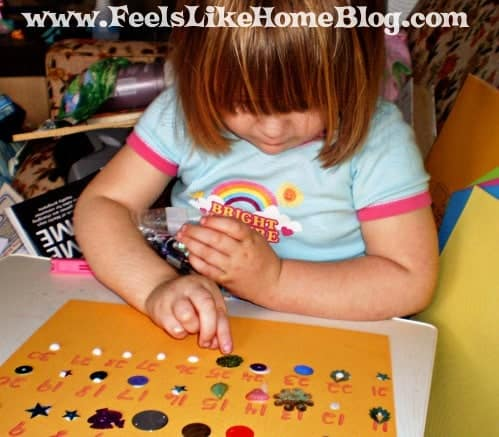 preschool counting craft