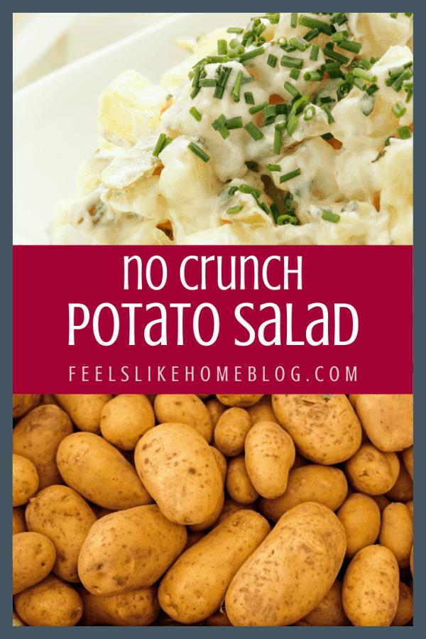 A close up of potatoes and potato salad