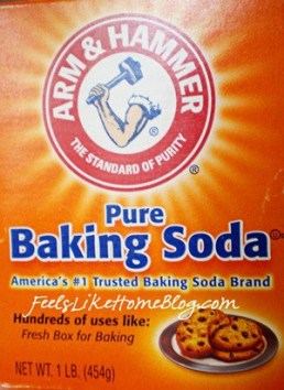 A close up of baking soda