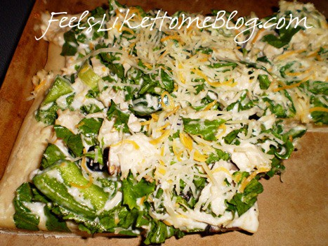 chicken salad pizza