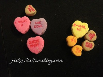 candy hearts activities - letter identification