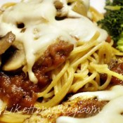 Chicken Parmesan featuring BarillaÃ'® Whole Grain Pasta