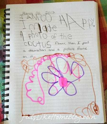 Ideas for writing in a kindergarten journal for homeschool or the classroom - including fun activities for learning to read and write including drawing pictures to illustrate stories and thoughts.