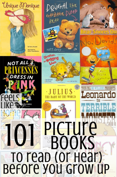 A collage of picture book covers