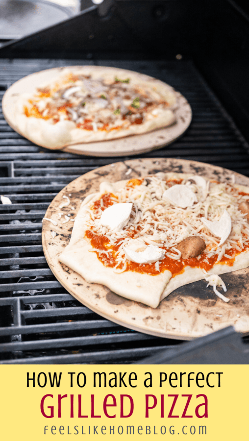 a close up of pizza dough on the grill