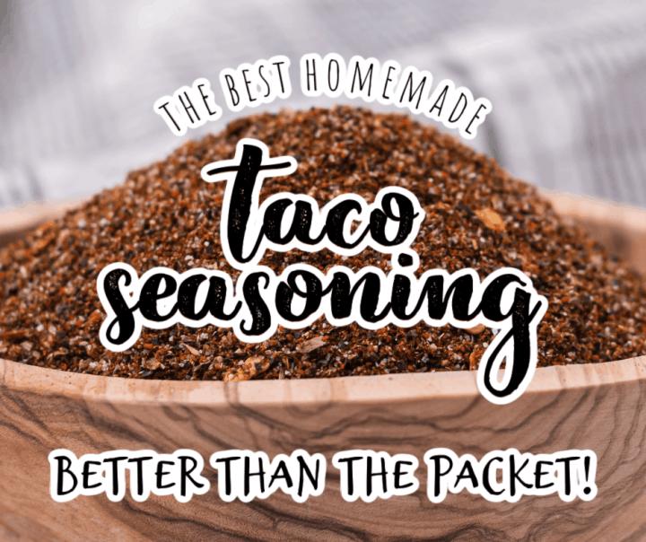 a small bowl of homemade taco seasoning