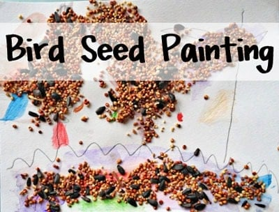 Bird Seed Painting Easy Crafts For Kids Feels Like Home