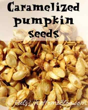 A pile of pumpkin seeds