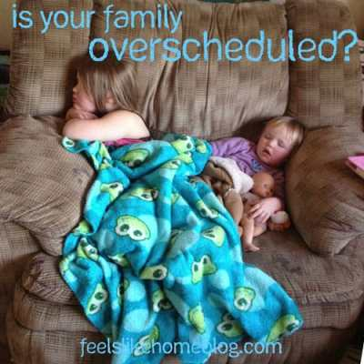 Is your family over-scheduled? This mom and her kids were involved in too many activities and talk about how to cut back without losing your mind.