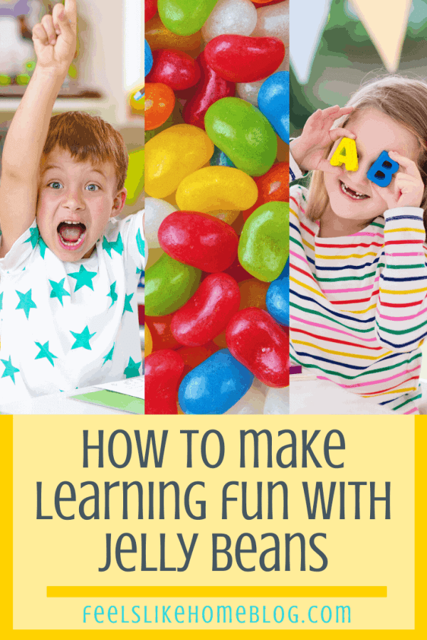 Children who are having fun learning and jelly beans