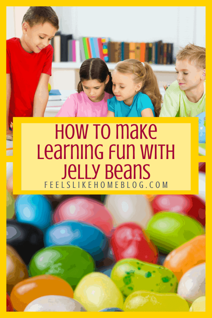 Kids learning with jelly beans