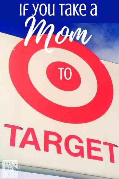 A close up of a Target sign