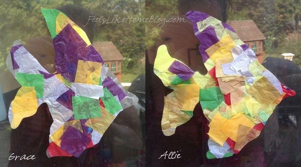 Colorful fish shaped suncatchers