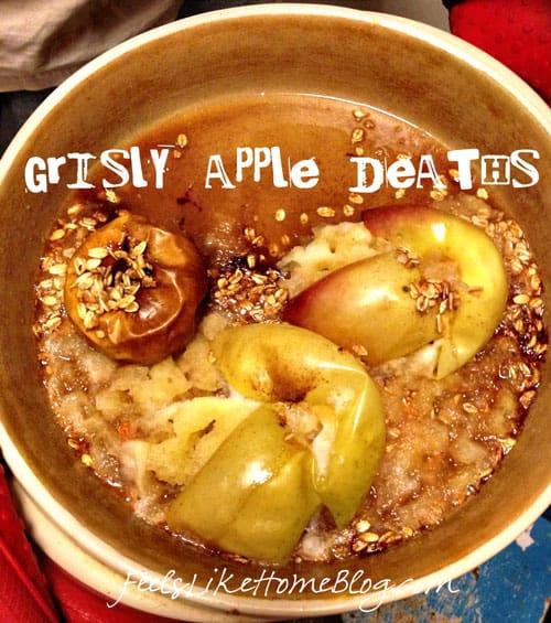 Stuffed Baked Apples - Exploded