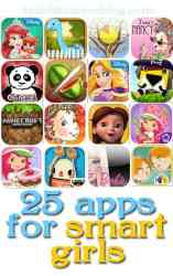 25 iPhone and iPad apps for smart girls - Some are educational. Some are just for fun.