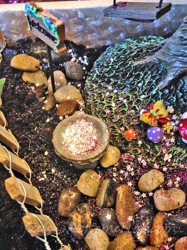 Fairy garden bird bath