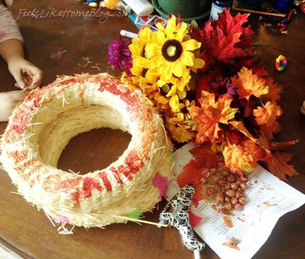 Autumn Wreath Craft for Kids Materials