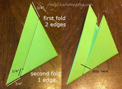 Measure and cut the triangle