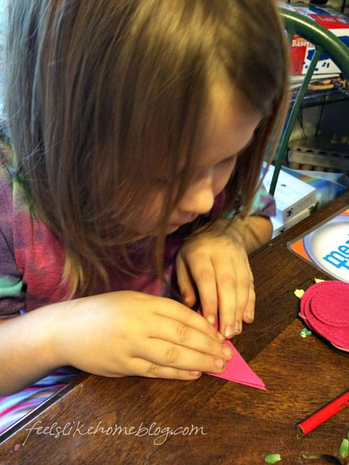 Kids can do the folding in this project.
