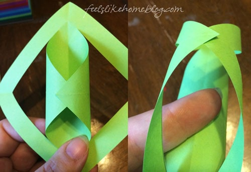 Fold and glue the center square