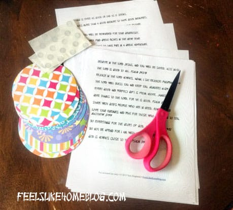 How to Make Paper Fortune Cookies Tutorial Materials