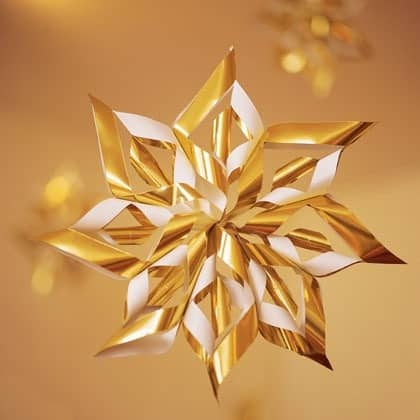 My inspiration for this 3D paper snowflake project