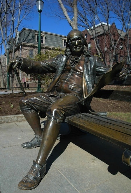 benjamin franklin bench