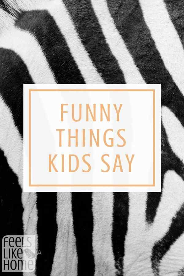 These are HILARIOUS! Kids say the funniest things, and this kid is great! Click over and read these because you will laugh and laugh!