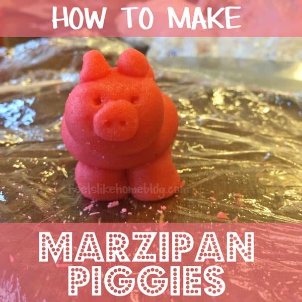 a pink marzipan pig